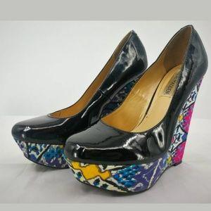 EUC Steve Madden Womens 6.5 Platform Wedge Heels